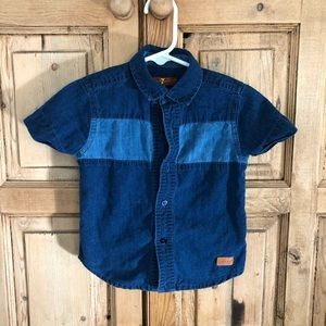 7 For All Mankind 18M Boy Button Down Shirt